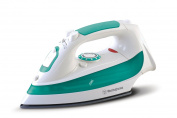 Westinghouse Steam Iron with 220ml Water Tank, 1200 Watts, Comfort Grip, White with Green Accents