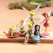 Fairy Figurines Resin 6 Models Fairy Garden Miniatures Princess Crafts Miniature Fairy Figurines Garden Decoration