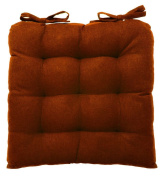 vanki Soft Chair Cushion / Pad - 36cm x 36cm , Brown