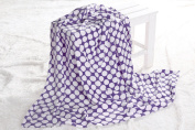 Bacati Dots Plush Throw, Purple, 130cm x 150cm