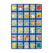 Joy Carpets Kid Essentials Infants & Toddlers Alphabet Blues Rug, Multicoloured, 2.1m x 3m