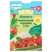 Heinz Dinners Mediterranean Vegetables & Rice 4mth+