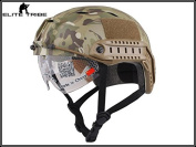 Army Military Equipment Airsoft Paintball Climbing Protective Combat Tactical Fast Helmet Base Jump BJ Type Multicam MC
