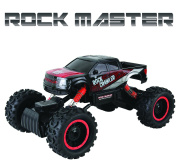 Large Rock Crawler RC Car (30cm Long) – 4x 4 Remote Control Car For Kids (Red) – Everything Included (Even Batteries) – 1/14 Rock Master Rock Crawler with 2.4Ghz Controller By ThinkGizmos