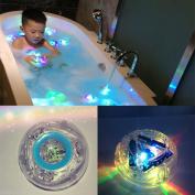 RISKER Bath Water LED Light Kids Waterproof Funny Bathroom Bathing Tub Toy
