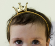 Princess Headband - Baby Gold Crown Headband - Baby Girl Gold Crown Handmade Headband - Fits From Babies to Adults - Golden Beam