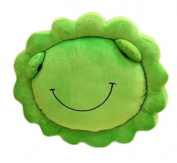 Smile YKK Kids Animals Sunflower Plush Throw Cushion Nap Pillow Green
