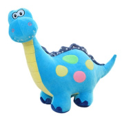 Smile YKK Kids Colourful Dot Dinosaur Plush Toys Funny Soft Dolls Blue 55cm