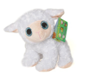 "ANIMALS ON THE FARM - Plush Toy white Sheep with bright eyes (9""/25cm) - Super Soft Quality"
