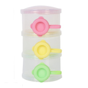 Colourful Milk Power Dispenser Portable Snacks Storage Container