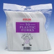 Plastic Forks White for Disposable Party Tableware