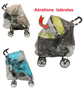 Universal Rain Cover for Pushchair with Canopy