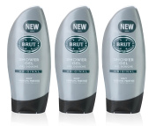 3x Brut Original SHOWER GEL Mens Body Wash 250ml by Faberge