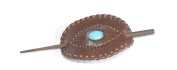 hair pin barette made from water buffalo leather