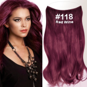 Flip Halo Hair Extensions () Wavy Red Wine (# 118), 50 cm, 120 g