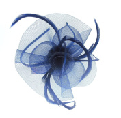 Navy Blue Fascinator headband for Weddings, Races, Ladies Day
