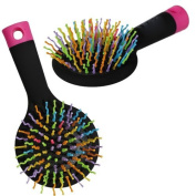 RAINBOW COMB VOLUME BRUSH MAGIC HAIRBRUSH WITH MIRROR FOR HAIR TANGLE GIFT NEW