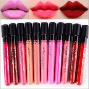 BESTIM INCUK 10-Piece Beauty Makeup Lip Gloss Velvet Matte Waterproof Cosmetic Lipstick