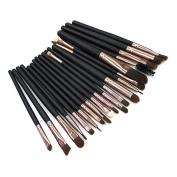 Lanwow Soft Powder Foundation Eyeshadow Eyeliner Lip Makeup Brushes Make Up Sets 20 pcs