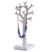 FiNeWaY@ WHITE JEWELLERY NECKLACE CHAIN RING EARRING TREE STAND DISPLAY organiser HOLDER