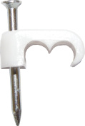 65 Twin Cable Clips WHITE x100
