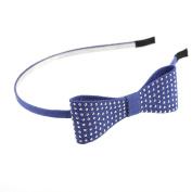 Mytoptrendz® Denim Bow Headband Hairband Thin Metal Fabric cover Alice Band