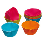 Ouneed ® Muffin Kitchen Cupcake Cases,Colourworks Silicone Cupcake Cases 7cm, Pack of Twelve, Acetate Boxed