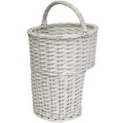 Hartleys White Wicker Stair Basket