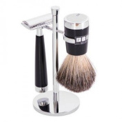 The Fitzrovia Safety Razor Black Resin Shaving Set