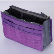 Make up organiser bag Women Men Casual travel bag multi Cosmetic storage bag Makeup Handbag Purple