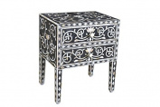 Mother of Pearl Inlay Floral Design long legs Bedside Table