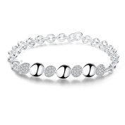 Bracelet Women & Girls Jewellery Sterling Silver 925 PLATED Bracelet with Zircon Perfect Fashion Gift for any Occasion Elegant