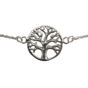 Sterling Silver 925 Adjustable Tree Of Life Chain Bracelet