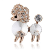 Dog Poodle Little Small Pin Brooch with Crystals from.