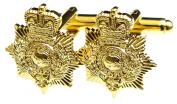 Royal Marines Pith Helmet Badge / Brunswick Star Cufflinks