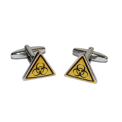 Biological Hazard Warning Triangle Cufflinks X2BOT002