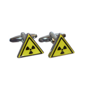 Radioactive Warning Triangle Cufflinks X2BOT003