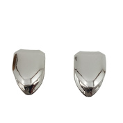 24K White Gold Plated Single Tooth Cap x2 Grillz