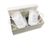 60th Diamond Wedding Anniversary Gift Pair Of Sentiment Mugs Gift Boxed