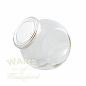 Pack of 6 395ml Glass Sweet Jar with Silver Lids