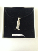 Meerkat PP English Pewter on a Black Cord Necklace Handmade 41CM