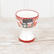 Chicken Farm Ceramic Egg Cup - Ideal Way To Hold Your Dippy Eggs! - H 6.5 x circumference 5.5 cm