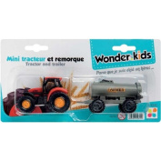WDK PARTNER A1200069 Toy Model Tractor with Trailer Assorted Versions [French Language]