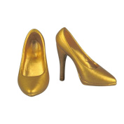 1/6 Scale Women High Heeled Shoes For 30cm Action Figure Body Hot Toys - gold