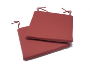 Greenhurst Pack of Two Padded Garden Seat Chair Cushions in Terracotta Colour