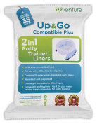 NEW RELEASE | Potette Plus 100% Compatible Travel Potty Liner | EXTRA Super Saver Bonus | Get 35 Up & Go Travel Liners For The Price Of 30