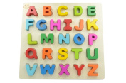 You & Xi Wooden Chunky Alphabet Puzzle Board