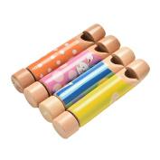 SevenMye 1 Pcs Wooden Flute Whistle Toys Musical Diacritical Sliding