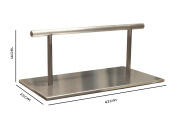 Hair Furniture Rheme Bridge Stand Alone Non-Slippery Stainless Steel Solid Foot Rest