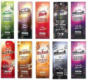 Pro tan Sachet selection 10 x 22ml Assorted Sunbed Tanning Accelerators by Protan